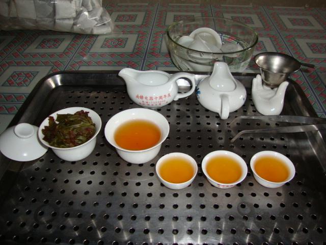 漳平水仙茶茶汤