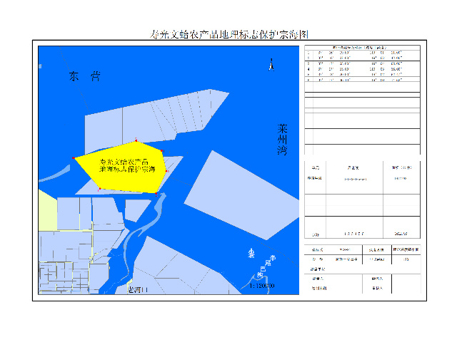 寿光文蛤地理标志区域示意图